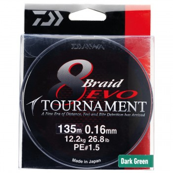 Trenzado DAIWA Tournament 8 Braid EVO 300 mts (Verde)