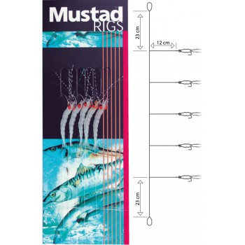 Sabiki Metralleta Mustad T52 Luminous