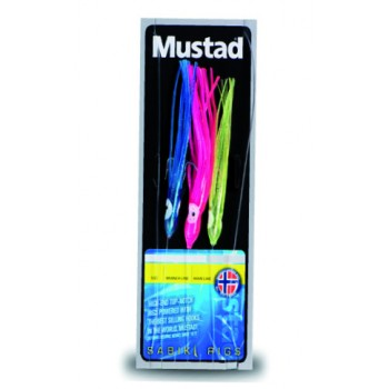 Bajo Mustad 3 pulpitos coloured squid