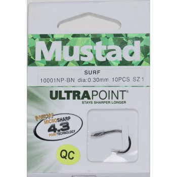 S/10 Anzuelos Montados Mustad SURF 10001 NP-BN