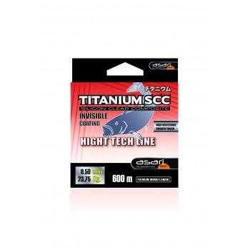 Monofilamento Asari TITANIUM SCC (ROJO)- 600 MTS