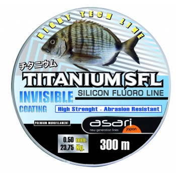 Monofilamento Asari TITANIUM SFL (Invisible Coating) - 300 MTS