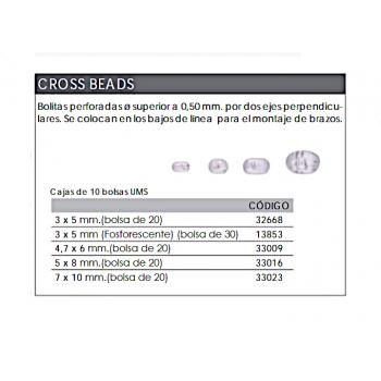 S/30 Perlas Cross Beads STRONG KALI KUNNAN doble tralado