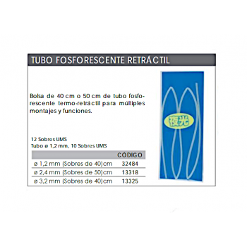 Tubo termoretráctil KALI fosforecente 40cm
