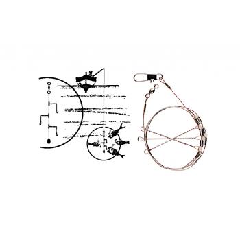 S/3 BAJOS VOLANTÍN Kali con Cable de Acero - 12 cm. 3...