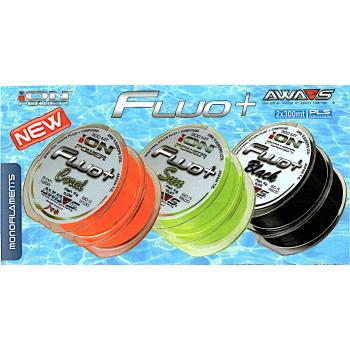 Monofilamento AWA-SHIMA ION Power Fluo + (Coral) - 300 MTS