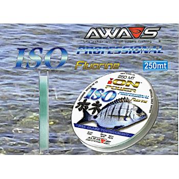Monofilamento AWA-SHIMA ION Power ISO Professional (FLUORINE) - 250 MTS