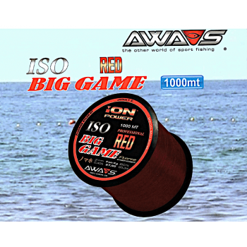 Monofilamento Awashima ION Power ISO BIG GAME (Red) - 1000 MTS