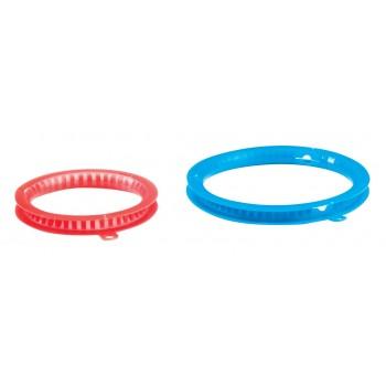 Plegador Circular Plástico Azul 16cm