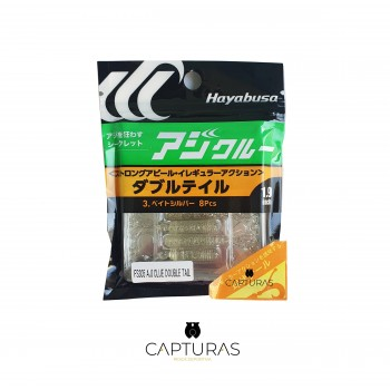 Vinilo Ajing Hayabusa FS305 Aji Clue Double Tail 1.9