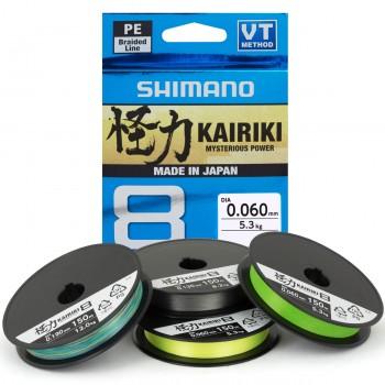Trenzado Shimano Kairiki Verde (Mantis Green) - 300 MTS