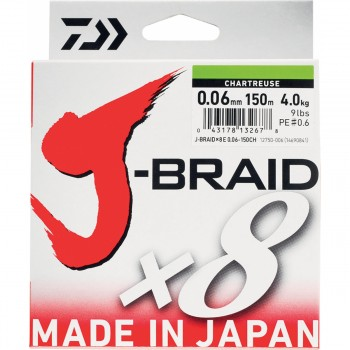 Trenzado Daiwa J-Braid X8 (Dark Green) - 150 MTS
